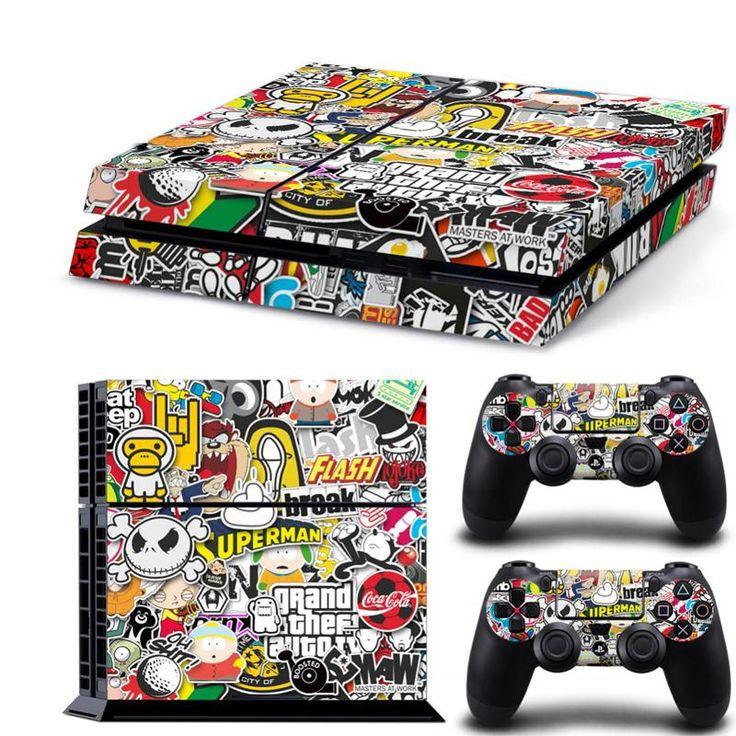 Bomb graffiti skin sticker cover for playstation 4 console