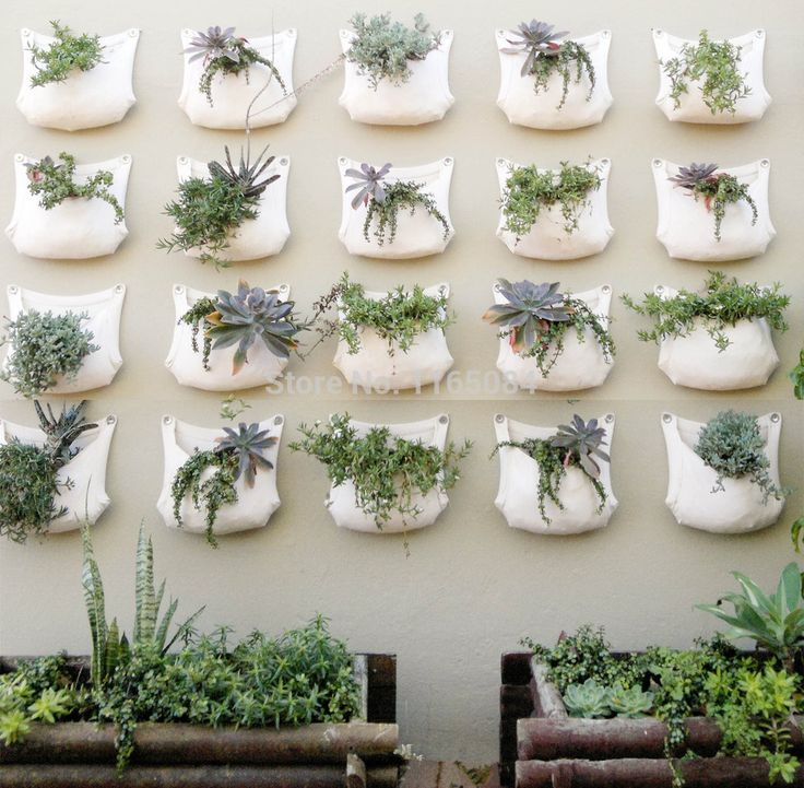 2 pieces 30*35cm Green Grow Bag Wall Hanging Planter Vertical Garden 1 Pocket Vegetable Living Garden Bag Home Supplies - € 8,96