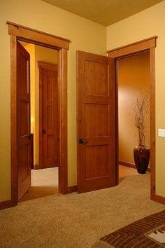 Craftsman Style Interior Trim | Craftsman in Honey - traditional - interior doors - denver - Sun ...