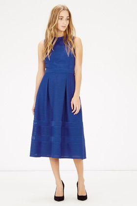 occasionwear   Blue LINEAR PROM DRESS   Warehouse