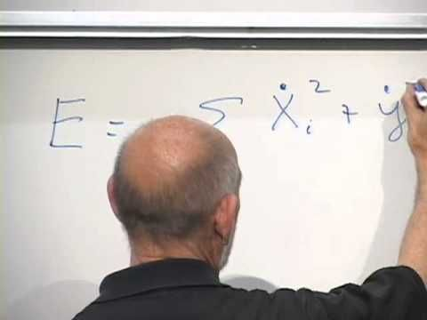 (September 20, 2010) Leonard Susskind gives a lecture on the string theory and particle physics. He is a world renown theoretical physicist and uses graphs to help demonstrate the theories he is presenting.