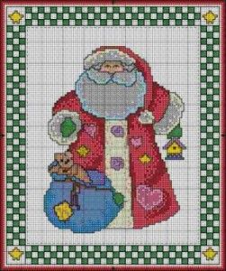 Country santa cross stitch craft christmas crafts for Country woman magazine crafts