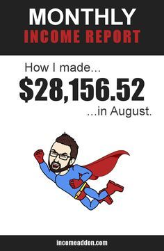 In my income report for August I give you an inside look at the things I did to make over $28,000 this past month...