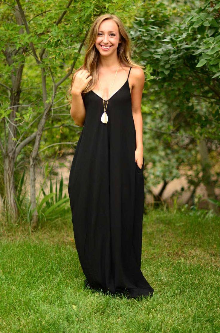 Gypsy Soul Maxi Dress - Black