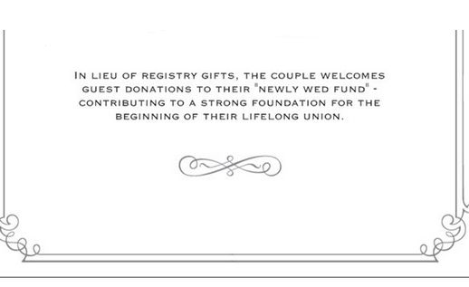 Wedding Invitation Wording For Monetary Gifts: Want To Ask For Money Instead Of Gifts For Your Wedding