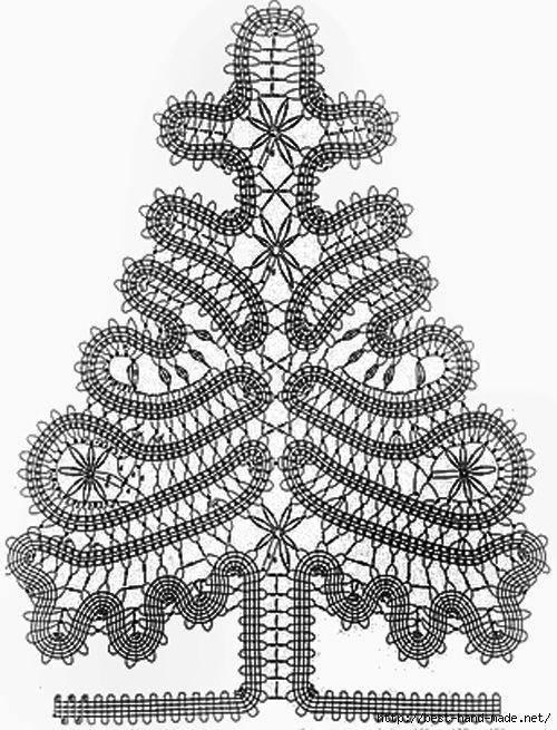 Albero di natale crochet  Buges-Beautiful Tree in stile crochet Bruges ..