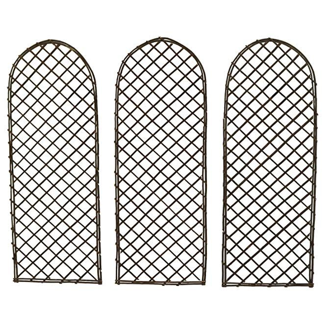 Oypla Set Of 3 Willow Trellis Fencing Panel Screen Climbing