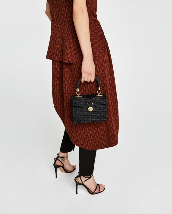 ZARA - NEW COLLECTION - MINAUDIÈRE BAG WITH BRAIDED HANDLE