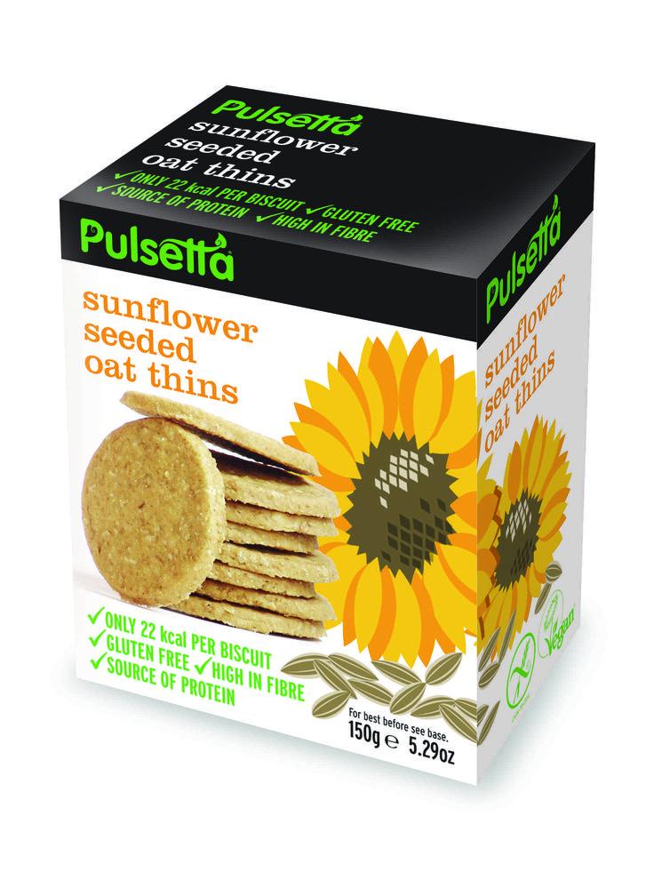 Pulsetta Sunflower Seeded Oat Thins