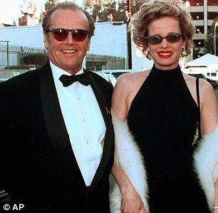 Jack Nicholson Wife   Jack Nicholson and Rebecca Broussard in 1998