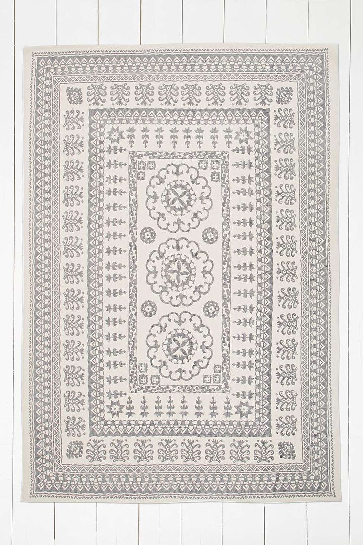 Euphrates 5x7 Grey Rug | Details - Product Sku: 5532992530006. This rug will bring a welcoming, homely edge to even the dullest of rooms with its batik design.  THINGS TO KNOW: - Composition: 100% Cotton - Spot clean  SIZE: - 152cm (W) x 213cm (L)