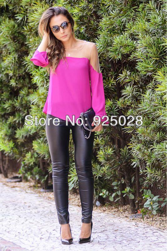 Blusas das senhoras Nova 2014 de venda quente da moda verão patchwork ocasional blusas Femininas frete grátis em Blusas & camisas de Roupas ...