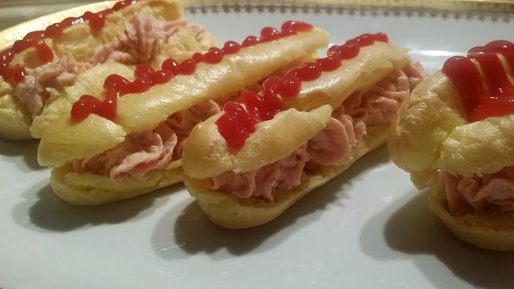 Le Ricette di Valentina: Pasticceria salata # 3: Eclair al prosciutto
