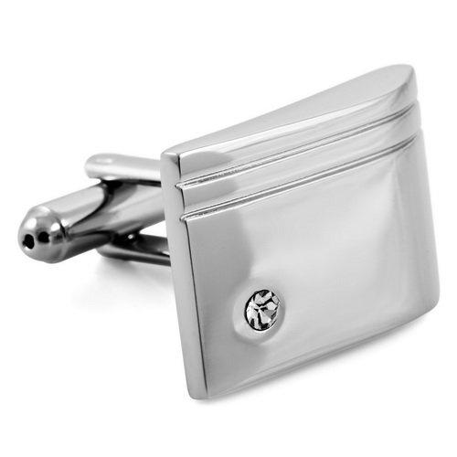 $9.99 Justeel Jewelry Elegant Silver Mens Shirt Cufflinks Rhodium Plated Wedding: Jewelry: Amazon.com