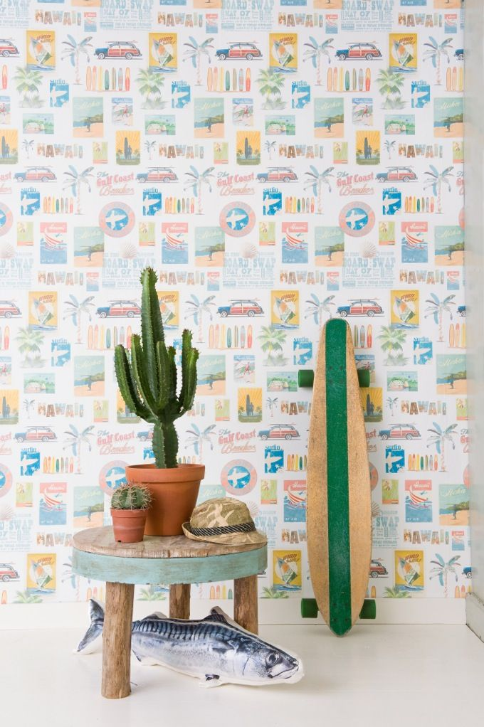 Surf boys wallpaper by Paper Moon