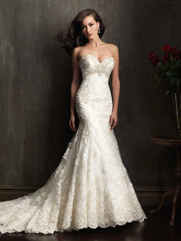 Allure Bridals Wedding Dress Wedding Dresses Mermaid Lace