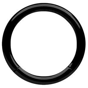 Piercing Schmuck Smooth Segmentring Stahl PVD schwarz in 3,0 mm