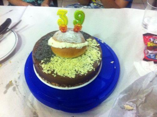 Tarta de cuajada con chocolate para #Mycook http://www.mycook.es/receta/tarta-de-cuajada-con-chocolate/