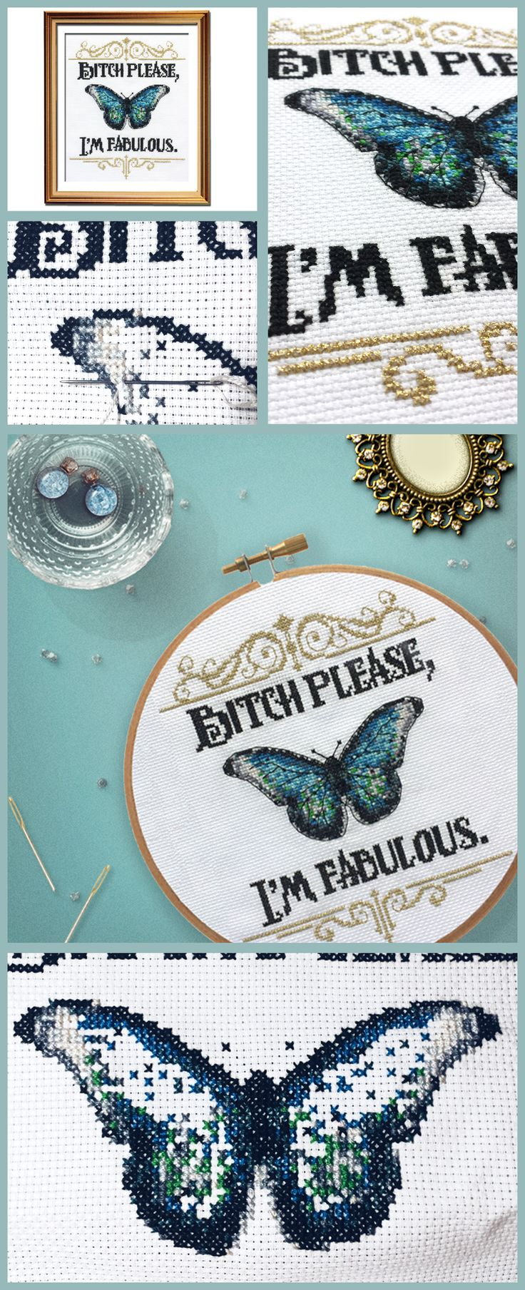 Prettiest funny cross stitch pattern ever