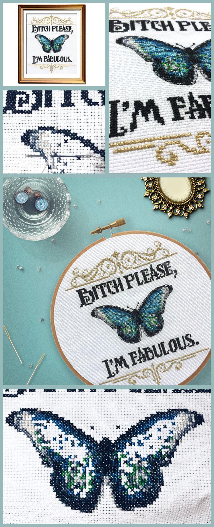 Prettiest funny cross stitch pattern ever