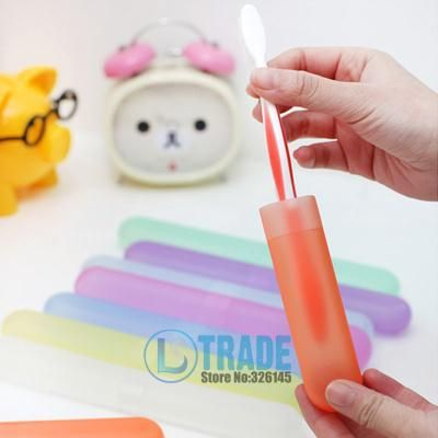 Cute Travel Toothpaste Toothbrush Box Portable Candy Color Toothbrush Box With Teeth Finishing Box A307 #Affiliate