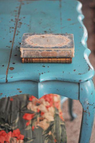old and blue. love
