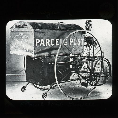 'Parcels Post' tricycle.