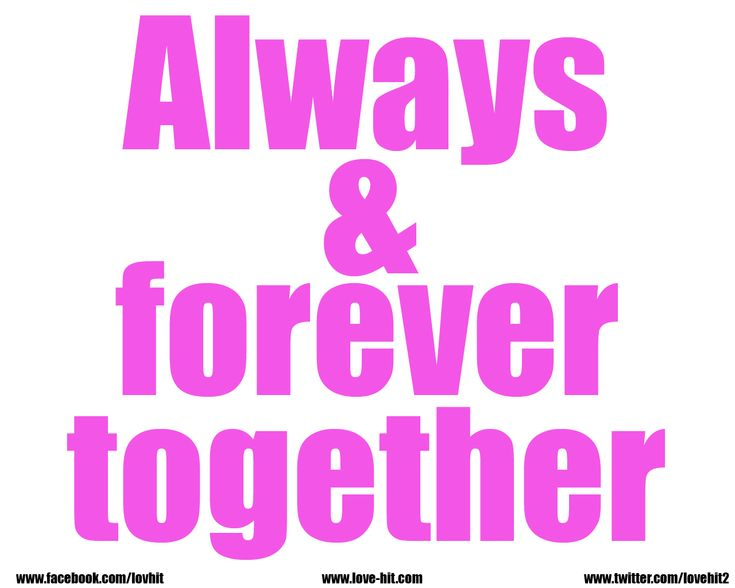 Always And Forever Together #love #art #cute