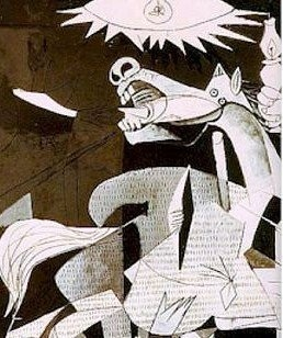 Pablo Picasso - Guernica détails ✏✏✏✏✏✏✏✏✏✏✏✏✏✏✏✏  ARTS ET PEINTURES - ARTS AND PAINTINGS  ☞ https://fr.pinterest.com/JeanfbJf/pin-peintres-painters-index/ ══════════════════════  Gᴀʙʏ﹣Fᴇ́ᴇʀɪᴇ BIJOUX  ☞ https://fr.pinterest.com/JeanfbJf/pin-index-bijoux-de-gaby-f%C3%A9erie-par-barbier-j-f/ ✏✏✏✏✏✏✏✏✏✏✏✏✏✏✏✏