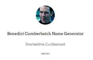 The Benedict Cumberbatch Name Generator Is The Best Thing Online