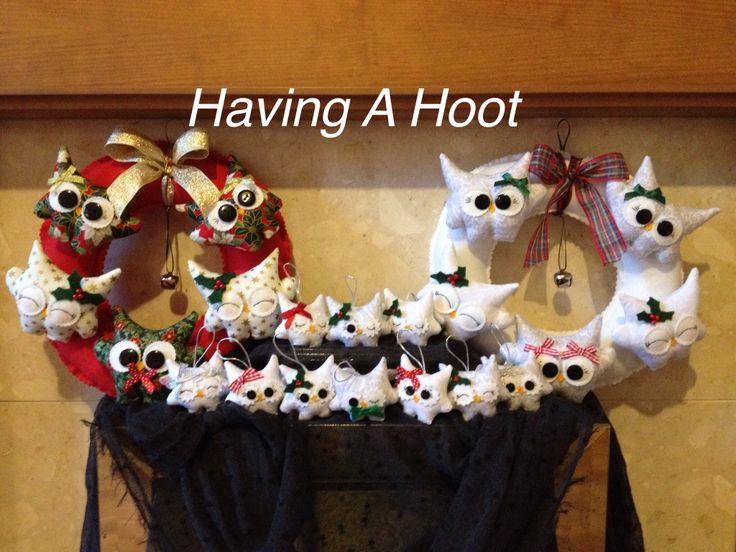 ❤️ Christmas Gathering  Hoot Wreaths and Teenie Tinys Tree Decorations ❤️