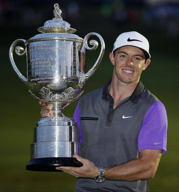 Rory Mcilroy wins the 2014 PGA Championship - the last major of the year. This gives him 3 consecutive tournament wins, 2 back-to-back Major Championship wins (Open Championship a few weeks ago) and 4 Major wins before the age of 26 (only Tiger Woods and Jack Nicklaus had at least 4 before the age of 26). Congratulations!