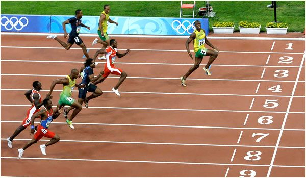 100 metres dash is a sprint race in field and track competitions. It's one of the most important events in track and field. The best runner in 100 meters dash is Usain Bolt with 9.58 seconds.
