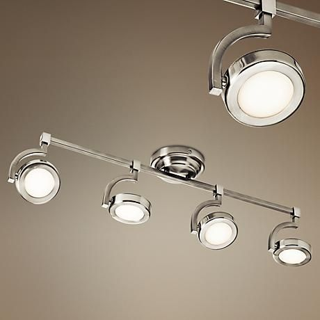 Best 183 track and recessed lighting images on pinterest track fully adjustable heads make this brushed nickel led track kit convenient for any lighting needs aloadofball Choice Image