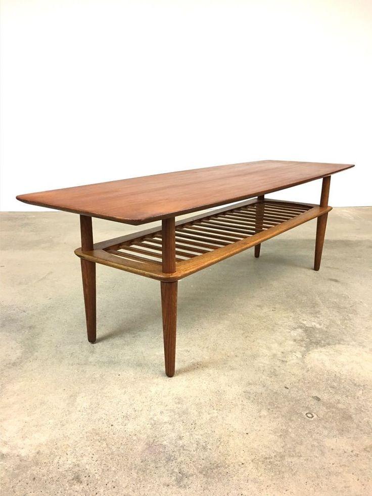 Danish Modern | Teak + Oak Coffee Table HM Denmark | Mid Century hansen #DanishModern