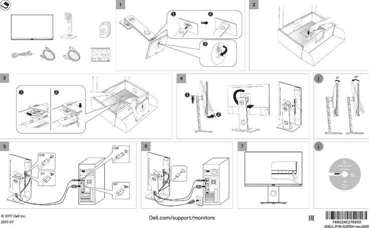 Dell p2418d monitor Quick Setup Guide User Manual En us