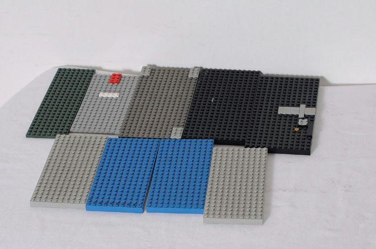 9 Pieces LEGO Various Platforms Building Base Plates Lot #LEGO