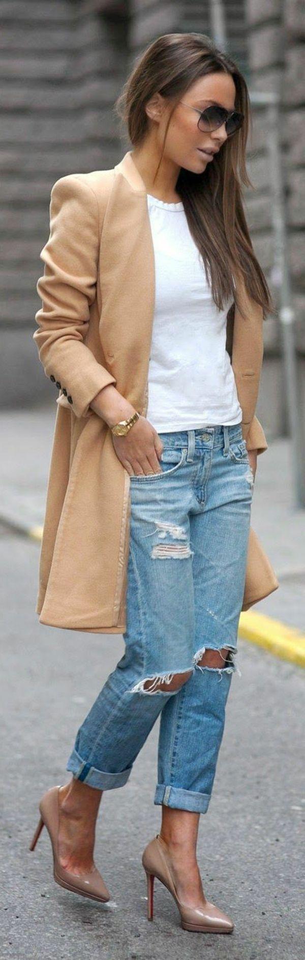 Jeans boyfriend femme OOTD                                                                                                                                                                                 Plus
