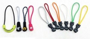 PVC rubber zipper pullers fashion sportswear