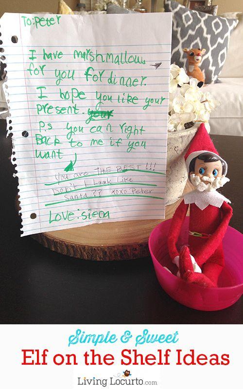 Simple Elf on the Shelf Ideas! LivingLocurto.com