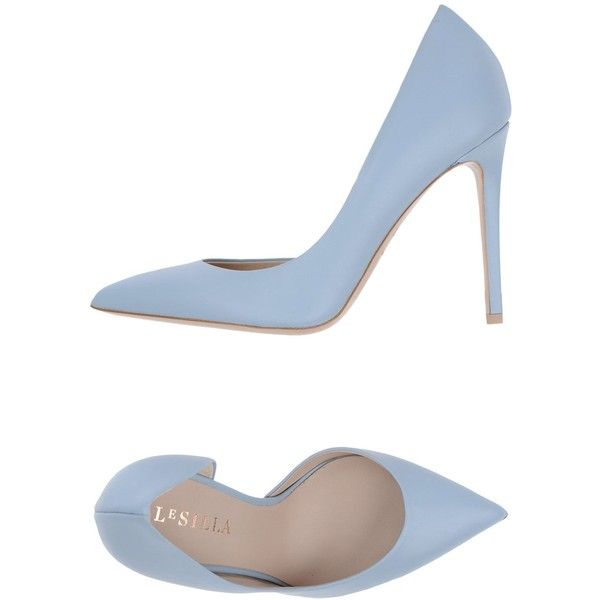 Le Silla Pump ($252) ❤ liked on Polyvore featuring shoes, pumps, heels, zapatos, sky blue, stiletto heel pumps, high heel stilettos, stiletto heel shoes, leather footwear and genuine leather shoes