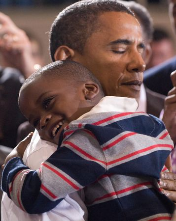 I am glad president Obama still can take the time to just be in a child's embrace.