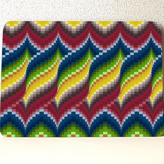 "Diseño de edredón de Bargello, tablero de corte de vidrio, vidrio templado; 10,75 ""x 7,75"" x. 188"", caja fuerte del lavaplatos. MADE IN USA, oro rojo verde azul 531"