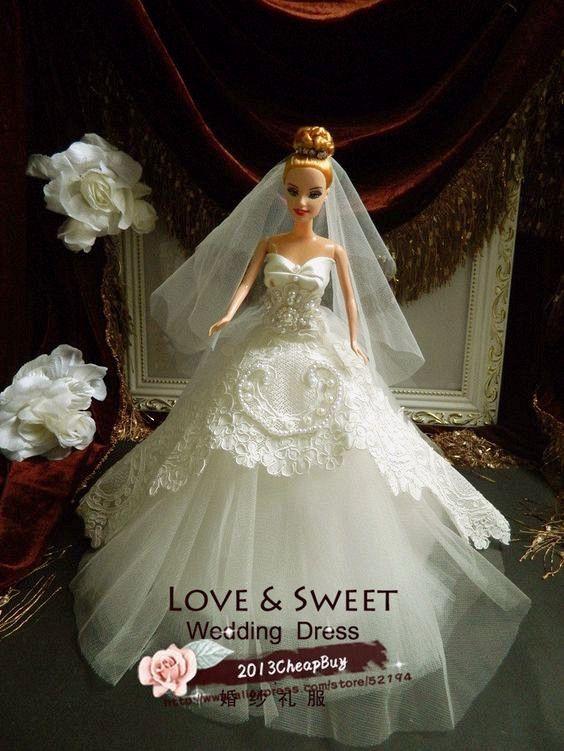 364 best Bridal Dolls images on Pinterest | Hochzeitskleider, Barbie ...