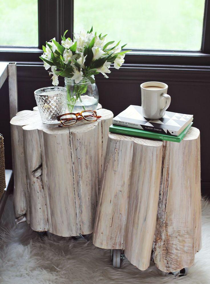 DIY Tree Stump Side Tables 121 best