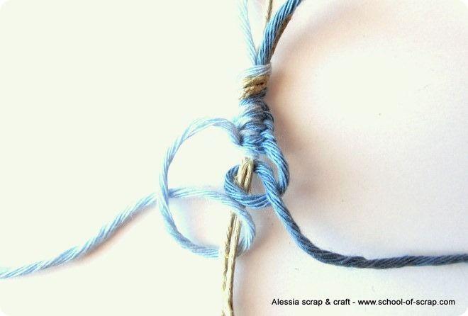 Corda cotoni colorati e macramè per fare braccialetti estivi