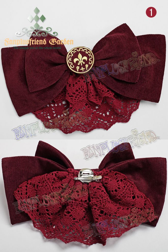 """Bookish Beauty"" Classic Lolita Corduroy/Suedette Bowknot Headdress/Jaobt*3colors"