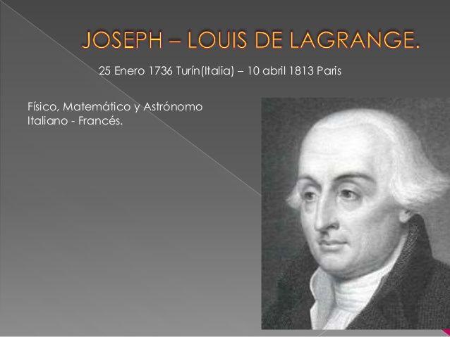 Joseph-Louis de Lagrange