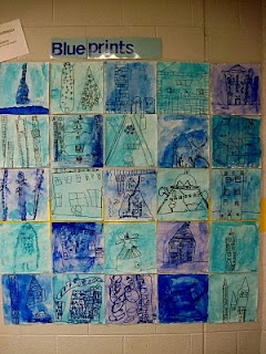 Chumley/Scobey Art Room: 1st Grade Architects Create Blueprints for Houses for Insects!