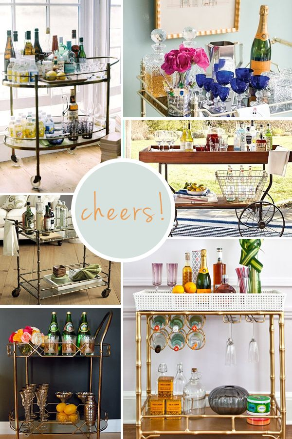 bar cart styling... WEEZER, this one's for you!